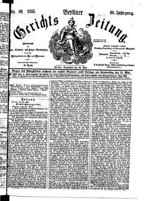 Berliner Gerichts-Zeitung vom 26.05.1855