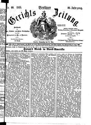 Berliner Gerichts-Zeitung vom 31.05.1855