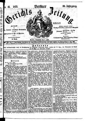 Berliner Gerichts-Zeitung vom 02.06.1855