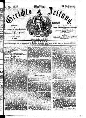 Berliner Gerichts-Zeitung vom 05.06.1855