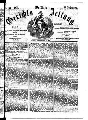 Berliner Gerichts-Zeitung vom 09.06.1855