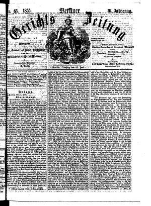 Berliner Gerichts-Zeitung vom 12.06.1855