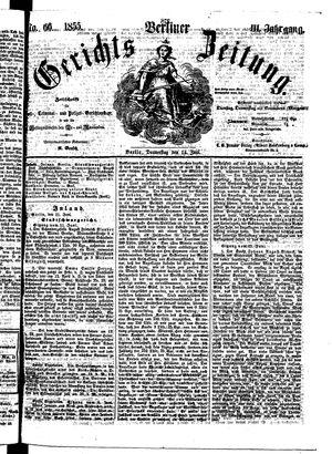 Berliner Gerichts-Zeitung on Jun 14, 1855