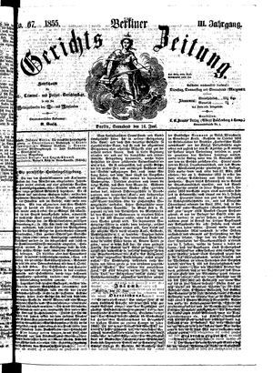 Berliner Gerichts-Zeitung vom 16.06.1855