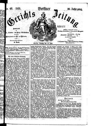 Berliner Gerichts-Zeitung vom 19.06.1855