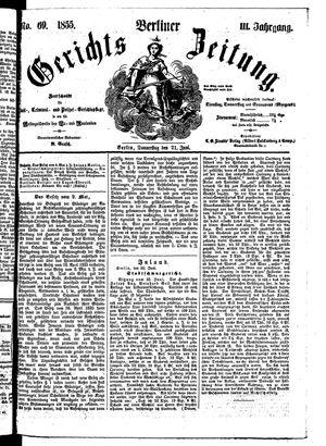 Berliner Gerichts-Zeitung vom 21.06.1855