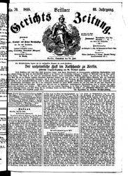 Berliner Gerichts-Zeitung (23.06.1855)
