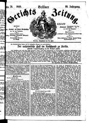 Berliner Gerichts-Zeitung vom 23.06.1855