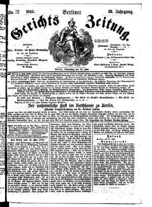 Berliner Gerichts-Zeitung vom 28.06.1855