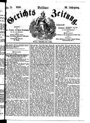 Berliner Gerichts-Zeitung vom 05.07.1855