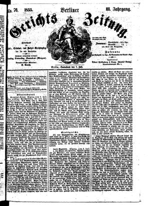 Berliner Gerichts-Zeitung on Jul 7, 1855