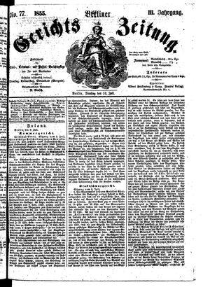 Berliner Gerichts-Zeitung vom 10.07.1855