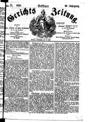Berliner Gerichts-Zeitung on Jul 12, 1855