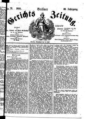 Berliner Gerichts-Zeitung on Jul 14, 1855