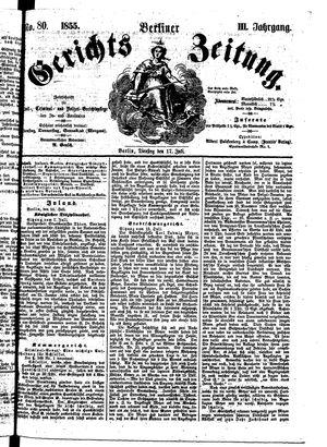 Berliner Gerichts-Zeitung vom 17.07.1855