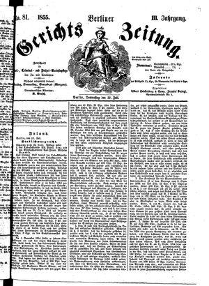 Berliner Gerichts-Zeitung vom 19.07.1855