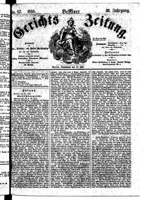 Berliner Gerichts-Zeitung vom 21.07.1855