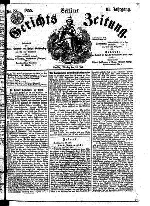 Berliner Gerichts-Zeitung vom 24.07.1855