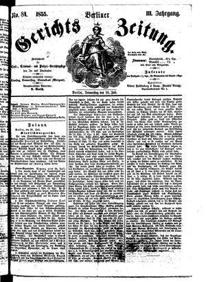 Berliner Gerichts-Zeitung on Jul 26, 1855