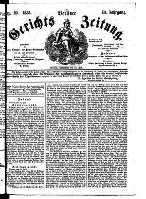Berliner Gerichts-Zeitung vom 28.07.1855