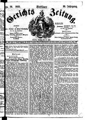 Berliner Gerichts-Zeitung on Jul 31, 1855