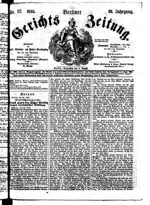 Berliner Gerichts-Zeitung vom 02.08.1855