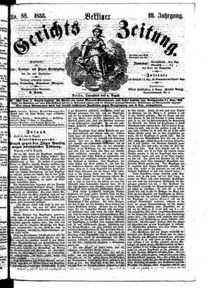 Berliner Gerichts-Zeitung vom 04.08.1855
