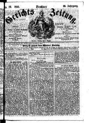 Berliner Gerichts-Zeitung vom 07.08.1855