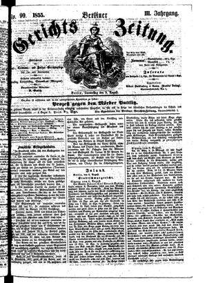 Berliner Gerichts-Zeitung vom 09.08.1855
