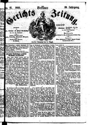 Berliner Gerichts-Zeitung vom 11.08.1855