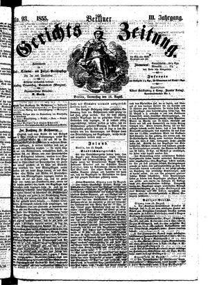 Berliner Gerichts-Zeitung on Aug 16, 1855