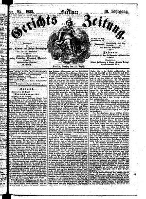Berliner Gerichts-Zeitung vom 21.08.1855