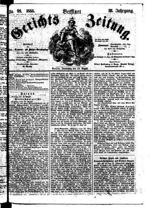 Berliner Gerichts-Zeitung on Aug 23, 1855