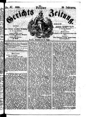 Berliner Gerichts-Zeitung vom 25.08.1855