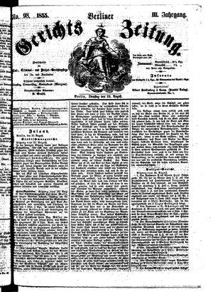 Berliner Gerichts-Zeitung vom 28.08.1855