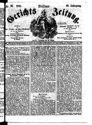 Berliner Gerichts-Zeitung vom 30.08.1855