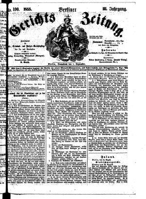 Berliner Gerichts-Zeitung vom 01.09.1855