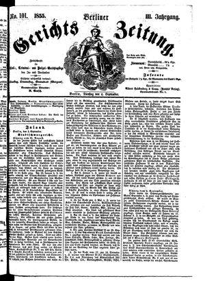 Berliner Gerichts-Zeitung vom 04.09.1855