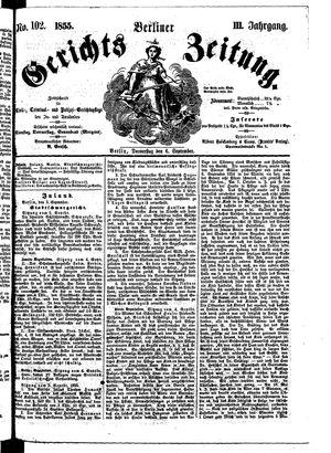 Berliner Gerichts-Zeitung on Sep 6, 1855
