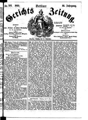 Berliner Gerichts-Zeitung vom 11.09.1855