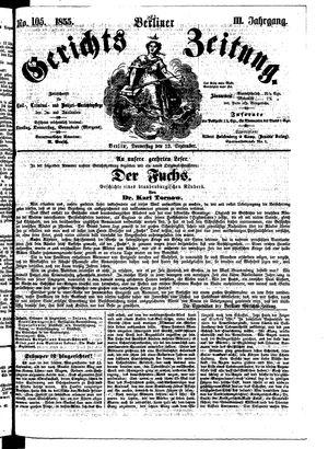 Berliner Gerichts-Zeitung vom 13.09.1855