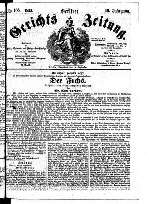 Berliner Gerichts-Zeitung vom 15.09.1855