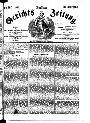 Berliner Gerichts-Zeitung vom 18.09.1855