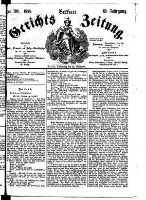 Berliner Gerichts-Zeitung vom 20.09.1855