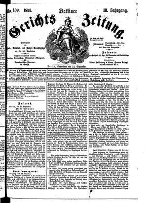 Berliner Gerichts-Zeitung vom 22.09.1855