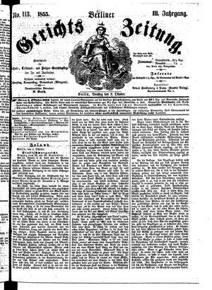Berliner Gerichts-Zeitung on Oct 2, 1855
