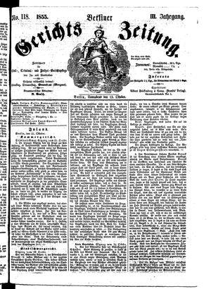 Berliner Gerichts-Zeitung vom 13.10.1855