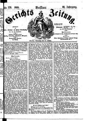 Berliner Gerichts-Zeitung vom 18.10.1855
