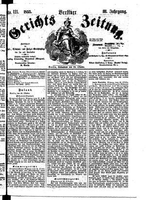Berliner Gerichts-Zeitung vom 20.10.1855