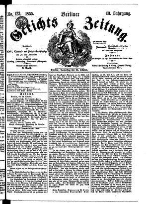 Berliner Gerichts-Zeitung vom 25.10.1855